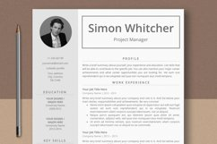 Project Manager Resume Template With Photo Product Image 1