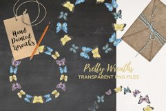 Butterfly 6 Wreath Watercolor Garlands Butterflies Spring Product Image 4