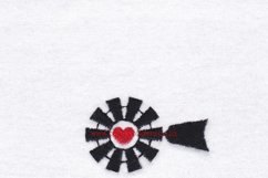 Red Heart Top Windmill Machine Embroidery File Product Image 2
