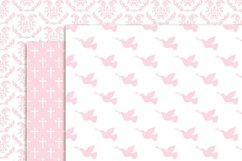 Girl Baptism Digital Papers and clipart Product Image 3