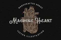 Brass heart font Product Image 2