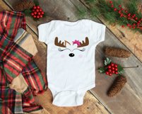 Cute Reindeer Face | Christmas SVG Product Image 2
