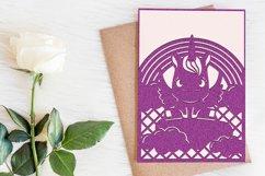 Unicorn invitation template, Svg files for cricut Product Image 2