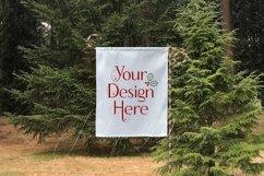 White Yard Flag Mockup Bundle, Seasons, Garden Flag Mock-Up Product Image 3
