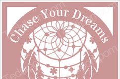 CHASE YOUR DREAMS DREAMCATCHER SVG Papercut Frame, cricut silhouette svg Papercutting, Card Making,Digital Upload Product Image 1