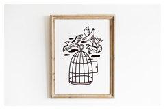 BIRDS illustration & patterns Product Image 2