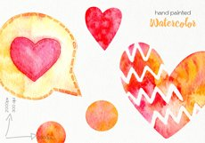 Watercolor Hearts Clipart - PNG Files Product Image 4
