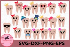 Tooth SVG, Tooth Fairy Svg, Tooth Fairy Bags, Tooth with Bow Product Image 1