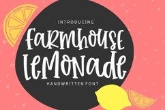 Farmhouse Lemonade - Handwritten Font Product Image 1