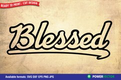 Blessed SVG Print, Cut File Product Image 1