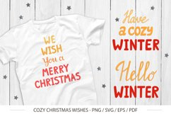 Cute Christmas Wishes for design - SVG, PNG Product Image 1