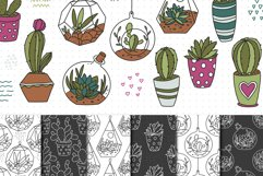 Cactus SVG and Seamless Pattern Product Image 5