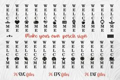 Create Your Own Porch Sign WELCOME SVG Cut File Bundle Product Image 4