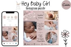 Canva Instagram Puzzle Template - Birth Announcement Product Image 1