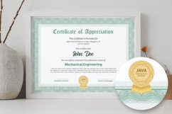 Guilloche Certificate Double-sided A4 Product Image 1