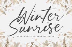 Winter Sunrise Modern Handbrushed Calligraphy Font Product Image 1