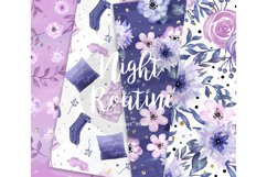 Bedtime digital paper, nightime routine, girly papers Product Image 3