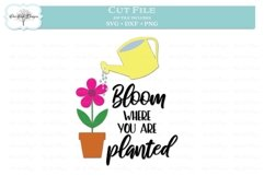Bloom Where You Are Planted - Garden Quote Product Image 2