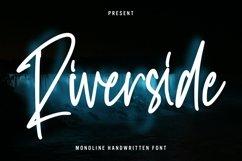 Web Font Riverside - Monoline Handwritten Font Product Image 1