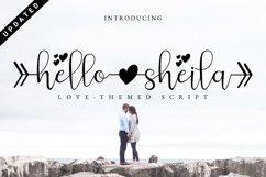 Hello Sheila - Heart Connection Font Script Product Image 1