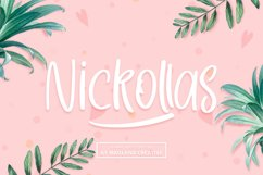 Nickollas - Handwritten Sans Serif Font Product Image 1