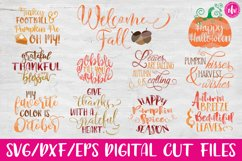 Fall Bundle - SVG, DXF, EPS Cut Files Product Image 1
