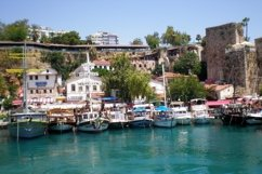 Cruise yachts near the port of the old city Kaleici Product Image 1