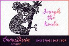 JOSEPH THE KOALA SVG MANDALA / ZENTANGLE 2 DESIGNS Product Image 1