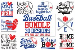 Baseball SVG Bundle, 30 Designs, DXF PNG EPS Cutting Files Product Image 1