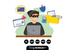 Character Hacking Illustrations Product Image 1
