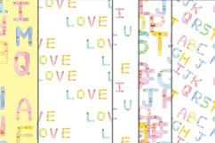Seamless pattern - Crayon letters Product Image 1