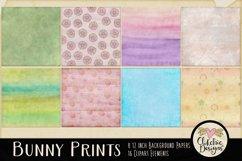 Easter Digital Scrapbook Kit - Bunny Prints Spring Clipart Product Image 3