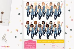 Crafty woman character clipart LVC60 Prim Product Image 2