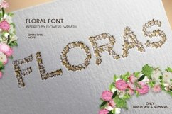 Floras - A Floral Font Open Type / Woff Product Image 1