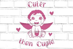 Cuter than Cupid SVG   Baby's First Valentine cut file Product Image 3