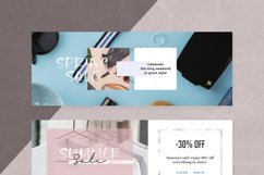 Canva - Marble Facebook Cover Pack Product Image 5