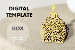 Wedding favor boxes, Gift box template Product Image 3