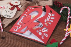 Christmas Candy Cane Invitation cutting file Product Image 2
