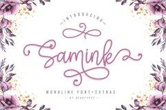 Samink Monoline font & Extras Product Image 1