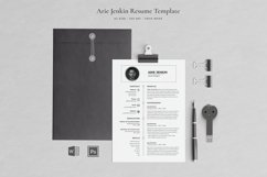 Arie Resume with Cover Letter Professional Template Product Image 1