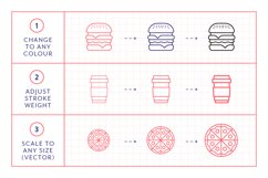 Line Icons - Food & Drink Product Image 5