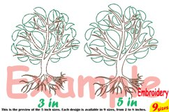 Family Tree Outline Embroidery Design Machine Instant Download Commercial Use digital Outline family love Deep Roots Branches 205b Product Image 4