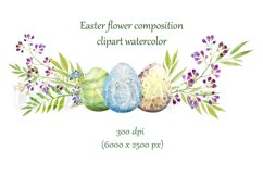 Easter floral composition with flowers and eggs Product Image 1