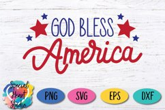 God Bless America - A hand lettered patriotic SVG Product Image 3
