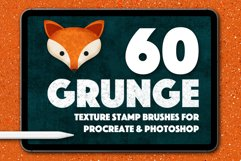 60 Grunge Texture Stamps Photoshop & Procreate Product Image 1