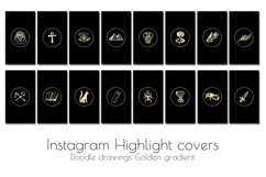 Hand drawn Watercolor Instagram Highlight icons travel cover Product Image 2