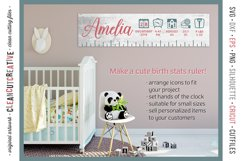 BABY BIRTH STATS - newborn elements - SVG file for crafters Product Image 2