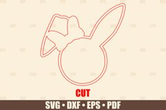 Easter Basket Tags SVG Glowforge Ready, Easter Bunny SVG Product Image 6