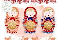 Russian Matryoshka Doll Clipart Product Image 4