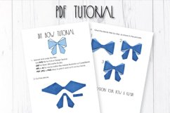 Hair bow template SVG, DIY leather bow template Product Image 3
